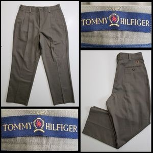tommy hilfiger men's pleated dress pants size 36